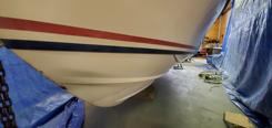 paint boat bottom fibreglass